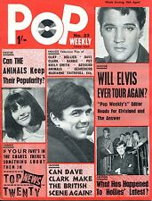 UK 1965 Music Magazine: POP WEEKLY no. 33   Elvis / Searchers  /   Hollies