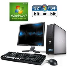Dell OptiPlex ordenador SSF PC de sobremesa 760 CORE 2 Duo 4gb 320gb HDD Windows