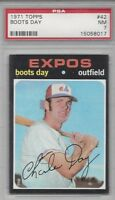 1971 Topps baseball card #42 Boots Day Montreal Expos PSA 7 NM