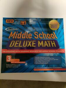 Studyworks! Middle School Deluxe Math - CIB (Big Box contains the CD and guide!)