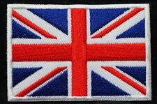 "UNION JACK ENGLAND - FLAG EMBLEM PATCH SEW ON EASY TO USE 2""x3"""