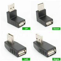 USB 2.0 A Male to Female 90Degree Left,Right,Up,Down Angle Extension Adapter