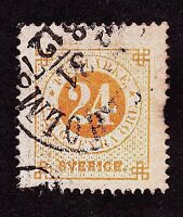 Sweden Sc #24 used. 24ö orange -