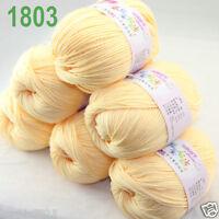 Sale 6 ballsx 50gr DK Baby Soft Cashmere Silk Wool hand knitting Crochet Yarn 03