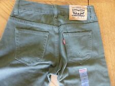 NEW Levi's 505 Boys Jeans 10 reg Dark Green colored straight regular fit NWT