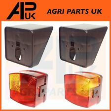 Case International IH Tractor PAIR Rear Brake Lights Lamp with Support Brackets