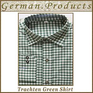 Oktoberfes Lederhosen German Bavarian Trachten Traditional Green Color Men Shirt
