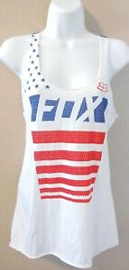 Fox Racing Womens AMERICA Red/ White Blue Tank Top- XS