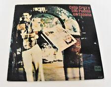 """CELIA CRUZ Y TITO PUENTE EN ESPANA. 12"""" VINYL LP. MONO TICO LP-1227 LATIN MUSIC."""