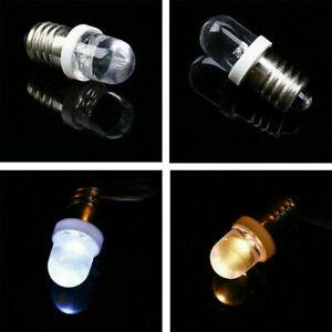 E10 LED Screw Base Indicator Bulb 6/12/24V Home Lamp Light Cold White/Warm White