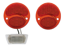 Pair Ford Model A LED Taillight Conversion 1928-1931 License Stop Light Inserts