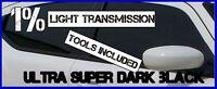 SUPER ULTRA DARK BLACK  99% TINT CAR WINDOW TINTING FILM 3m X 75cm  +KIT