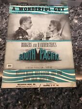 A Wonderful Guy Sheet Music Vintage 1949 Rodgers Hammerstein South Pacific