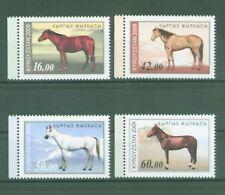 Kirgisien Kyrgyzstan Kirghizistan 2009 - Pferde Horses Chevaux - Nr. 592-95 A **