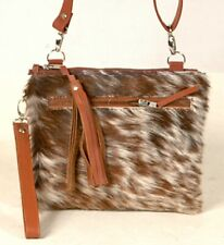 Real Cowhide Cross body Purse Handbag & Hand Clutch  Cow Hide Leather  CC-328