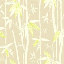 Contemporary Bamboo Stalks With Lime Green Leaves Wallpaper AC6088