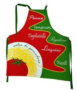 Schürze,Grillschürze,groß,Schurz,Spaghetti,Pasta,lustig,Baumwolle,Küche