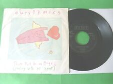 """EURYTHMICS - THERE MUST BE AN ANGEL(PLAYING WITH MY HEART) 7"""" DUTCH PRESS 85 VG"""