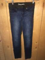 Aeropostale Size 000 Bayla Skinny Jeans Blue Black