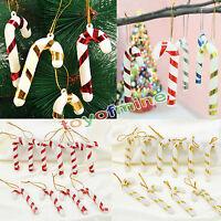10PCS de Noël Candy Cane Ornements Xmas Party Hanging Tree Decor Décoration