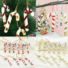 10PCS de Noël Candy Cane Ornements Xmas Party Hanging Tree Decor Décoration