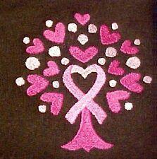 Pink Ribbon Tree Hoodie Small Breast Cancer Awareness Heart Brown Sweatshirt New