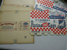 Vintage Product Packing Purina Egg Janney Stick Candy Unused Old Store Stock 30s