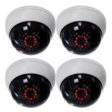 4 Paquete CCTV interior falsa camara simulada seguridad boveda con IR LEDs bQ8P1