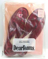 Vintage 60's/70's Women's Dearfoams Foam Cushioned Slippers Red Size 6.5 - 7.5