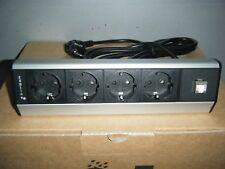 EVOLINE Dock Typ 930 4fach Tischsteckdose mit LAN-Port NEU & OVP