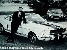 1966 FORD MUSTANG SHELBY GT 350 ORIGINAL AD * GT350 *Cobra/steering wheel/emblem