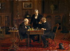 Thomas Eakins The Chess Players Giclee Canvas Print Paintings Poster
