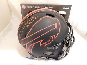 Josh Allen Signed / Autographed Buffalo Bills Full Size Eclipse Helmet Beckett