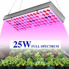 25W Vollspektrum LED Pflanzenlampe mit UV IR Licht 75 LEDs für Innen Gewächshaus