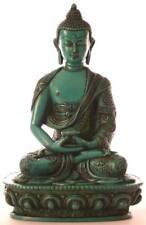 Turchese Amitabha statua Buddha personaggio di resina altezza 19cm-lavoro manuale nel Nepal