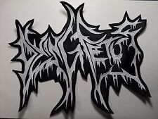 DYING FETUS WHITE LOGO EMBROIDERED BACK PATCH
