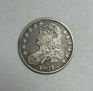 1831 Capped Bust Half Dollar O.102 R1 Very Fine