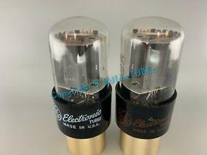GE 6SN7GTB Tubes Side Getter Copper Posts Short Bottle PLATINUM MATCH on AT1000