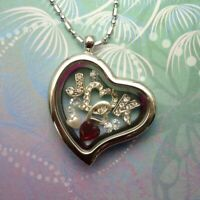 New Floating Charm Locket - Customised with your Initials, Valentines Love Gift