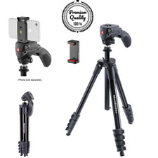 "Compact Aluminum Action Smart 61"" Tripod With Smartphone Adapter, Bag - Black"