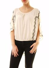 Free People Women's Sevilla Embroidered Blouse White Size L RRP £86 BCF612