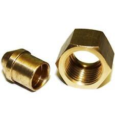 """1x souder écrou glandes olive & mamelon cuivre essence tuyau de carburant 1/4""""BSP x 5/16"""" tube"""