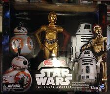 "Star wars force réveille exclusive, échelle 12"", droid 3 pack C-3PO, BB-8, RO-4LO neuf"
