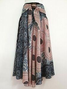 Women Sarong Long Skirt coconut Hippie Gypsy Lagenlook Bohemian Boho Smock CS