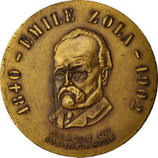 [#413982] France, Medal, Cercle du Bibliophile, Emile Zola, French Fifth
