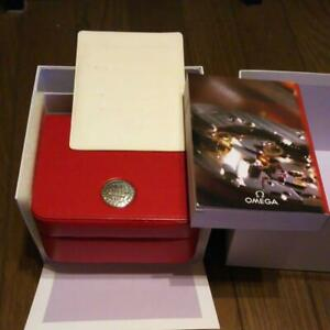Omega Empty Red Box with Instruction Manual Case for Wristwatch Japan Shipped