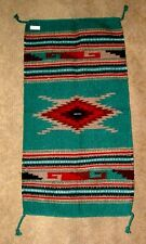 "Throw Rug Tapestry Southwest Western Hand Woven Wool 20x40"" Replica #110 A"