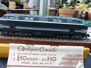 Hornby Acho HO 6340 SNCF 060 heavy diesel locomotive dark blue & cream partboxed