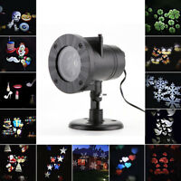 Outdoor Projector Laser LED Snowflake Night Light Lamp Garden Decor Waterproof
