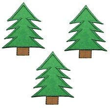 Pine Tree Applique Patch (3-Pack, Iron on)